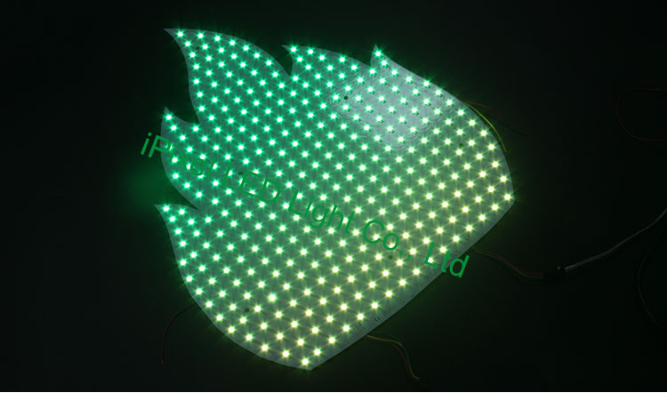 Flame Shape RGB Pixel Panel