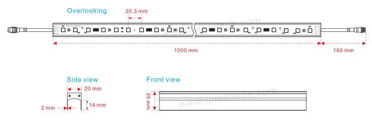 Ultra Thin Dmx LED Bar