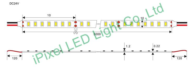SMD2210 High density LED strip 700 LED/M