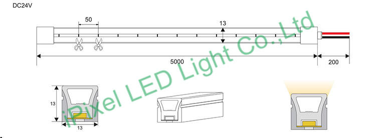 Constant voltage LED Neon 13*13mm