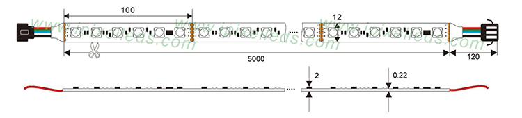 Auto Address DMX512 LED flex