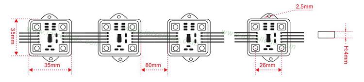 WS 2801 LED Pixel Module